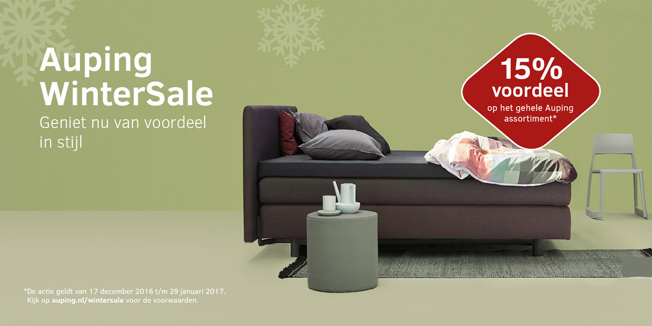 Auping Wintersale 15% Korting